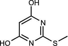 4,6-Dihydroxy-2-methylmercaptopyrimidine, 97% 1g Acros