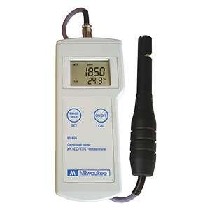 Máy đo pH/EC/TDS/Nhiệt độ cầm tay MI805 Milwaukee