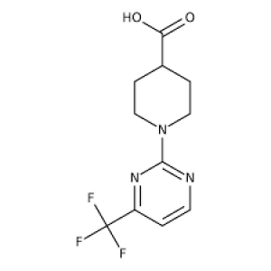 1-[4-(Trifluoromethyl)-2-pyrimidinyl]-4-piperidinecarboxylic acid, ≥97% 1g Maybridge