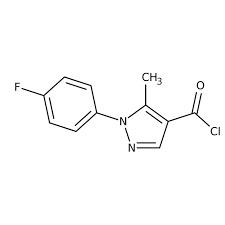 1-(4-Fluorophenyl)-5-methyl-1H-pyrazole-4-carbonyl chloride, 97% 5g Maybridge