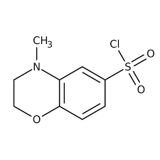 4-Methyl-3,4-dihydro-2H-1,4-benzoxazine-6-sulfonyl chloride, 97% 250mg Maybridge