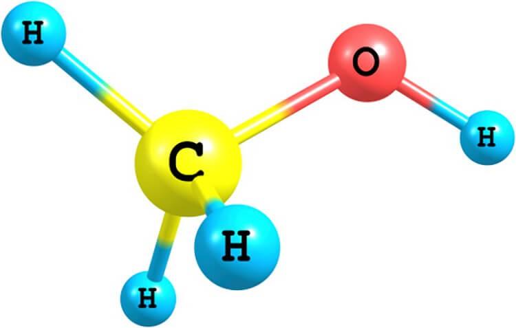 Công thức hóa học methanol