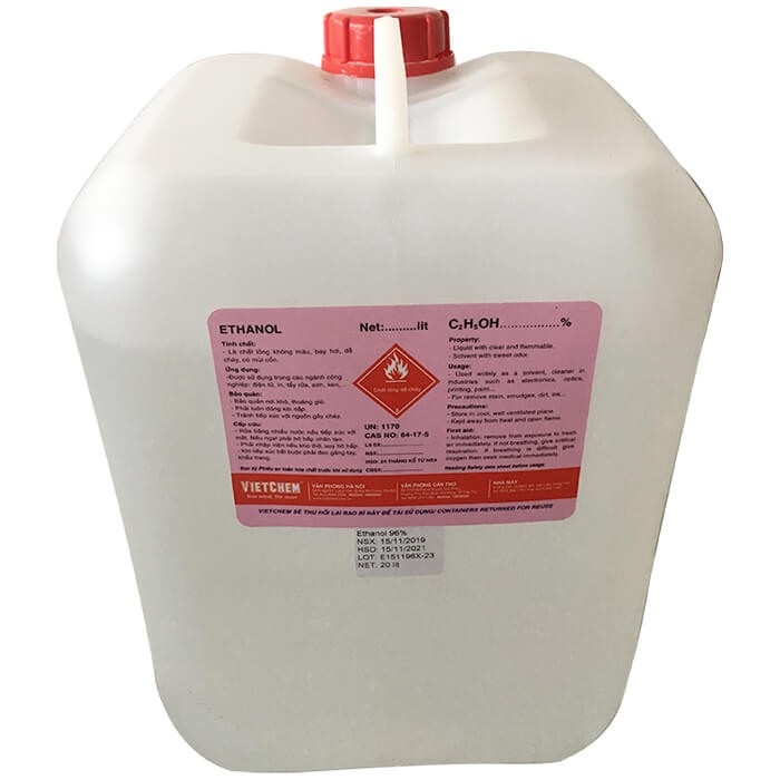 Cồn Ethanol C2H5OH Công Nghiệp - Cồn Thơm 99% Việt Nam