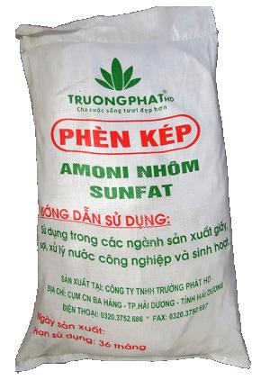 Phèn Nhôm Amoni Sunfat NH4Al(SO4)2 | Phèn Kép