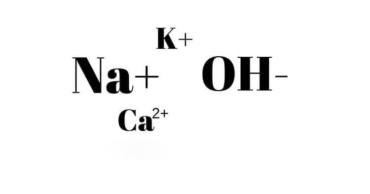 Công thức hóa học là sự kết hợp giữa kim loại và nhóm OH