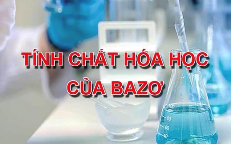 tính chất hóa học của bazo