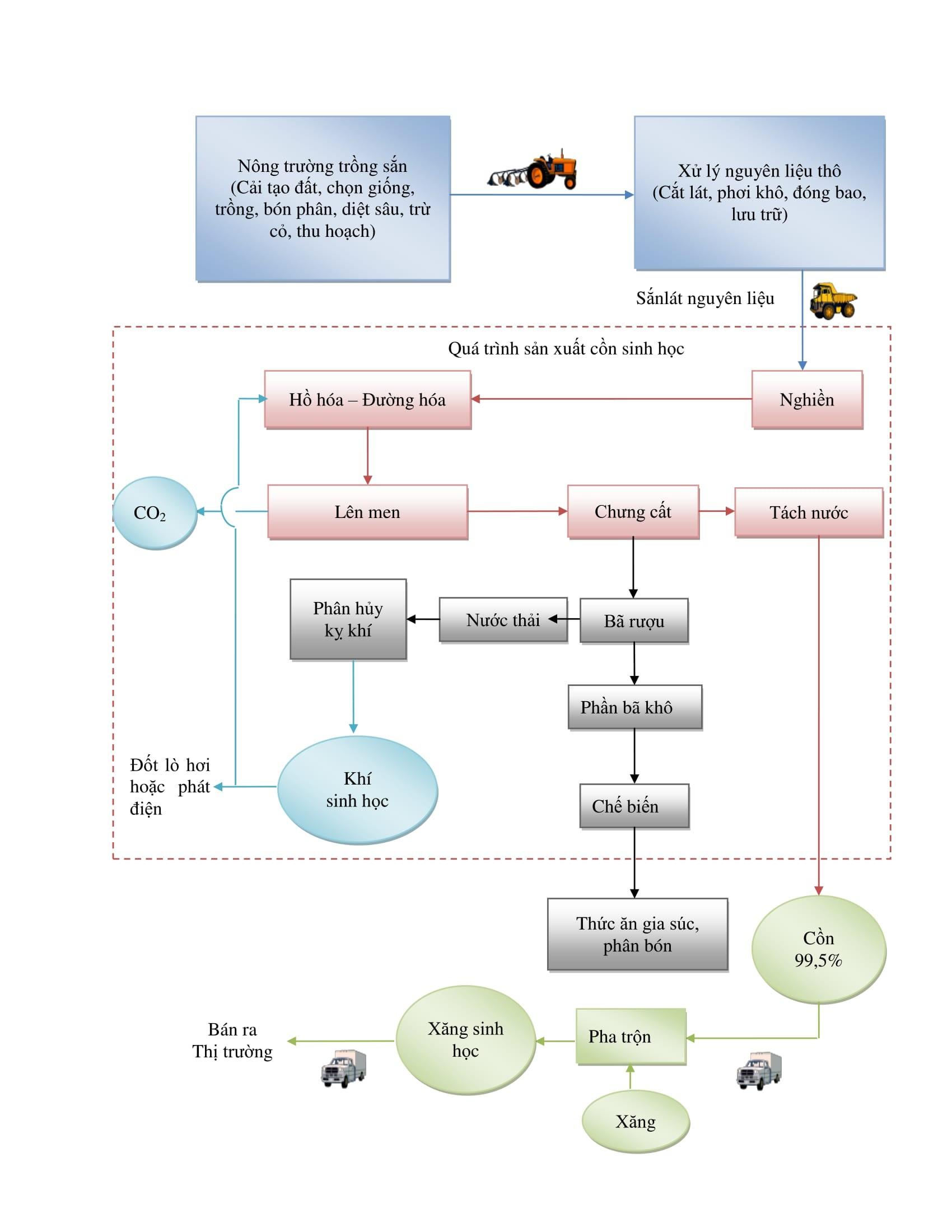 Quy trình sản xuất cồn ethanol
