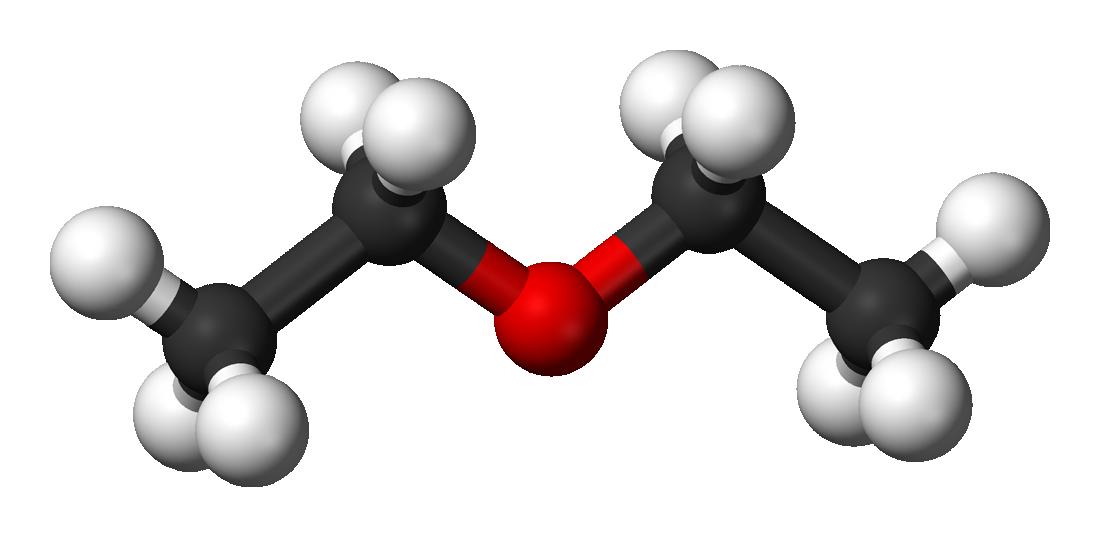 Cấu trúc phân tử của Diethyl ether