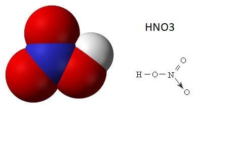 Công thức cấu tạo axit nitric