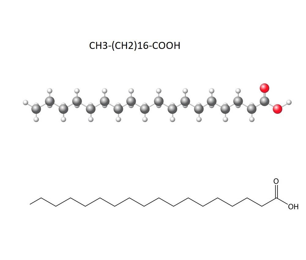 Công thức cấu tạo của axit stearic