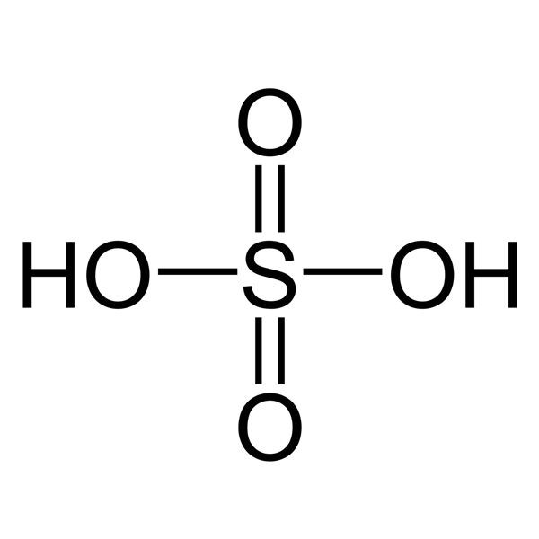 Cấu tạo phân tử của axit sunfuric