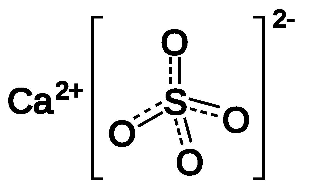 Cấu tạo phân tử của canxi sunfat CaSO4