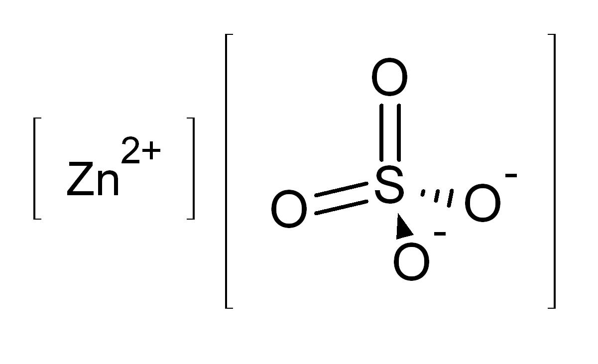 Cấu tạo phân tử của kẽm sunfat ZnSO4