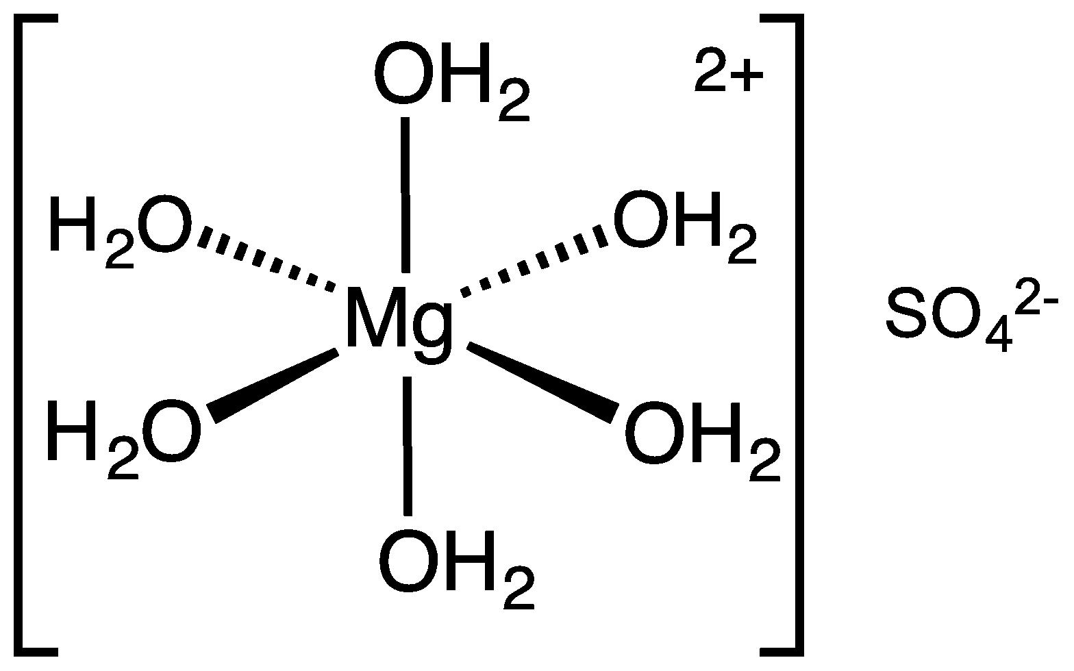 Cấu tạo phân tử của MgSO4.7H2O