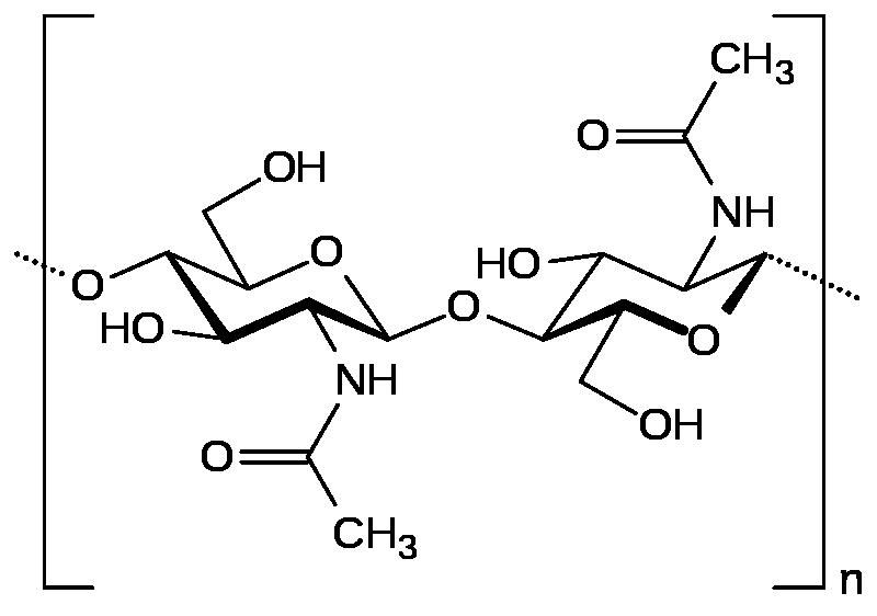 Công thức cấu tạo của chitin là gì?