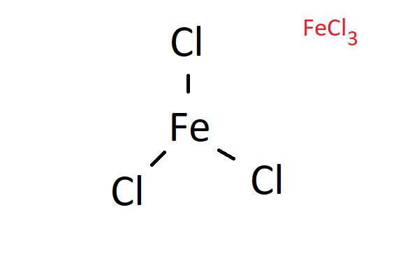 Công thức cấu tạo của FeCl3