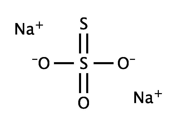 Cấu tạo phân tửNatri Thiosunfat Na2S2O3