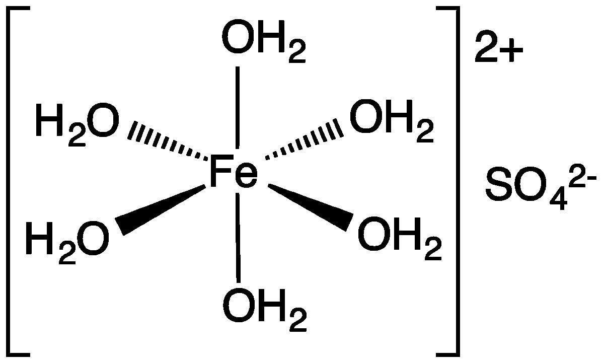 Sắt II sunfat ở dạng ngậm nước
