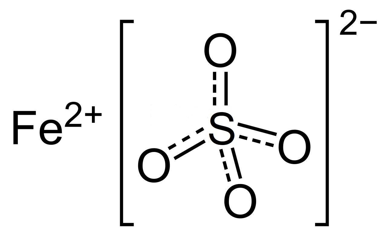 Cấu tạo phântử của sắt II sunfat FeSO4