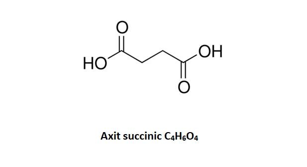 Cấu tạo phân tử của axit succinic