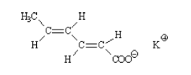 cấu tạo phân tử Potassium Sorbate