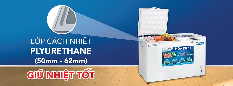Khả năng giữ nhiệt với lớp cách nhiệt dày giúp nhiệt độ duy trì ổn định