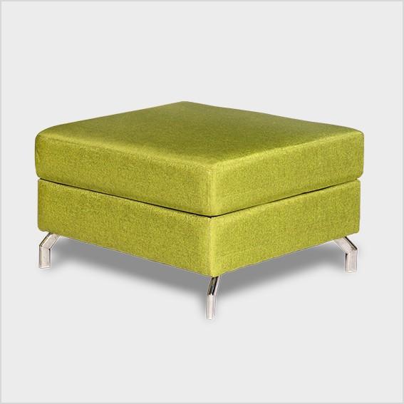 Ghế đôn sofa, chân thép mạ