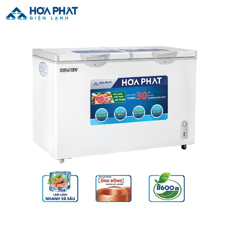 Tủ đông Hòa Phát R600a HCF 666S1Đ2 dung tích 352l thường được dùng ở siêu thị
