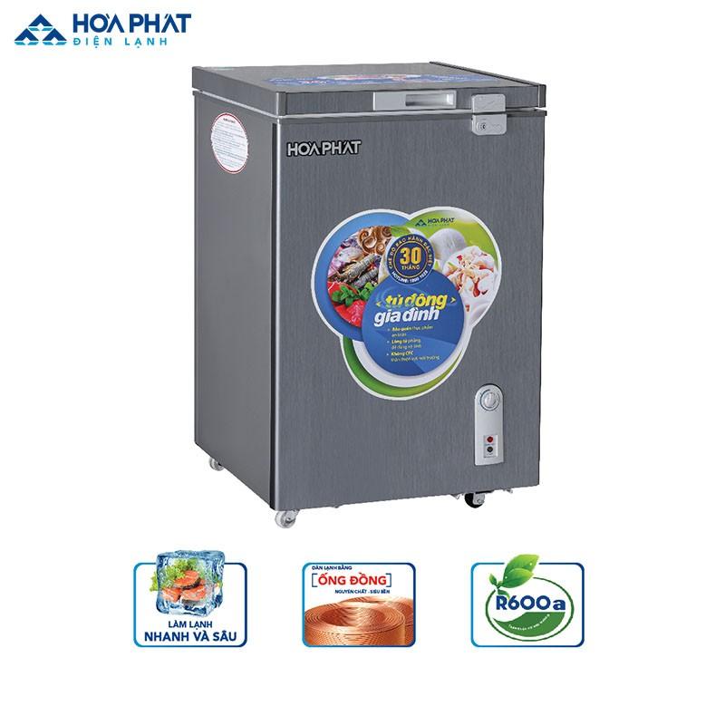 Tủ đông Hòa Phát R600a HCF 106S1ĐSH dung tích 107l dành cho gia đình có 4 người sử dụng