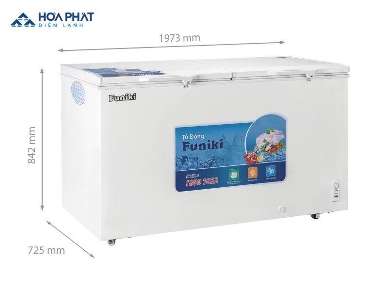 Tủ đông Funiki 2 chế độ bao gồm 2 - 3 ngăn riêng biệt: ngăn làm mát và ngăn đông lạnh