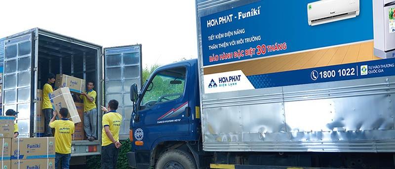 Chính sách vận chuyển ưu đã với mọi điều hòa Funiki