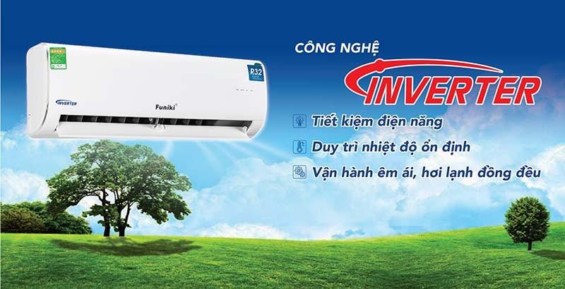 Điều hòa Inverter với công nghệ biến tần Inverter giúp giảm công suất máy nén tối đa