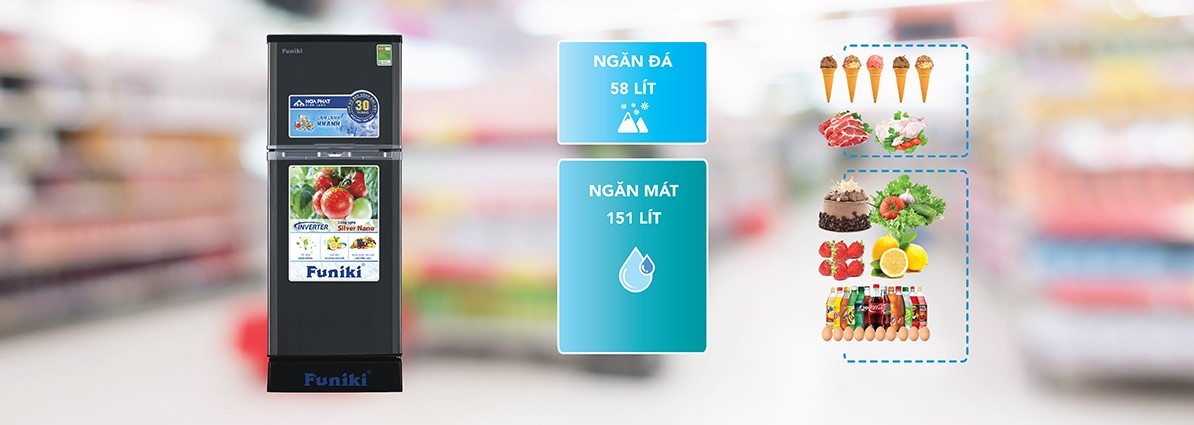Tủ lạnh Funiki trên 5 triệu có dung tích tương đối lớn và có thể tích hợp thêm công nghệ Inverter tiết kiệm điện phù hợp với những ai coi trọng chất lượng, nhu cầu sử dụng nhiều