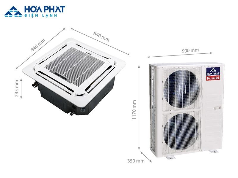 Máy điều hòa âm trần Funiki CH 50MMC sử dụng các ống đồng ở dàn nóng, có độ bền cao hơn các vật liệu thông thường khác