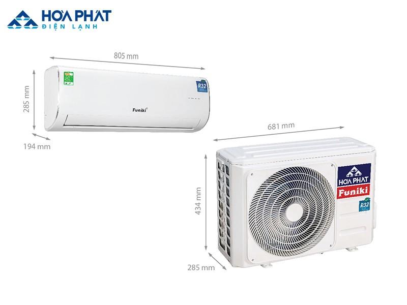 Điều hòa Funiki HSC 12MMC 1 chiều công suất 12.000 BTU sử dụng gas R32 thân thiện với môi trường và kích thước phù hợp với không gian phòng