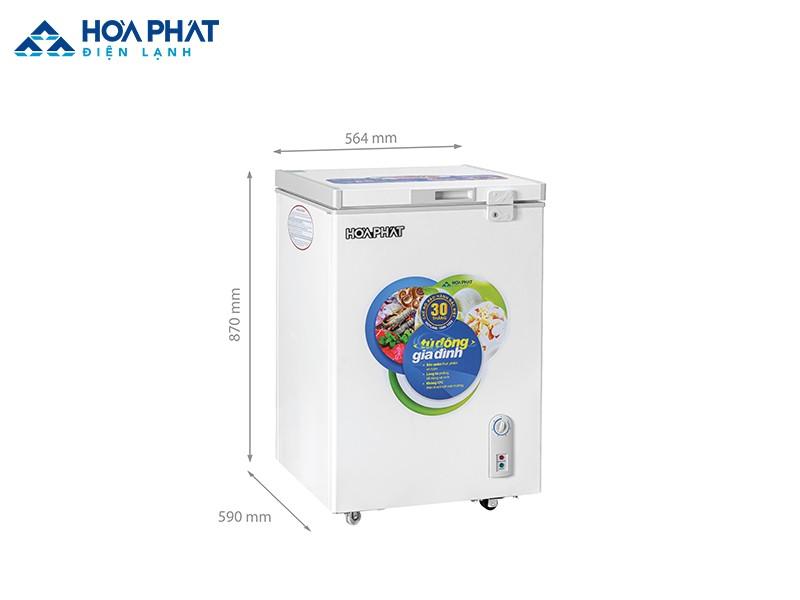 Tủ đôngHCF 106S1N với dàn lạnh nhôm