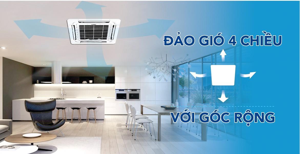 Sử dụng điều hòa âm trần CC 36MMC giúp tăng tính thẩm mỹ, xua tan nóng bức cho căn phòng