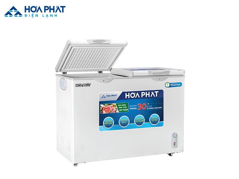 Các sản phẩm tủ đông Hòa Phát được tích hợp rất nhiều các chi tiết mang đến sự tiện lợi như: tay nắm cửa, khóa an toàn,...