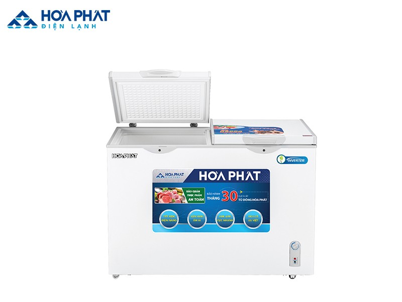 Kính cường lực có trong tủ đông Hòa Phát HCFI 656S2Đ2 có tính chịu lực cơ học và giữ nhiệt tốt