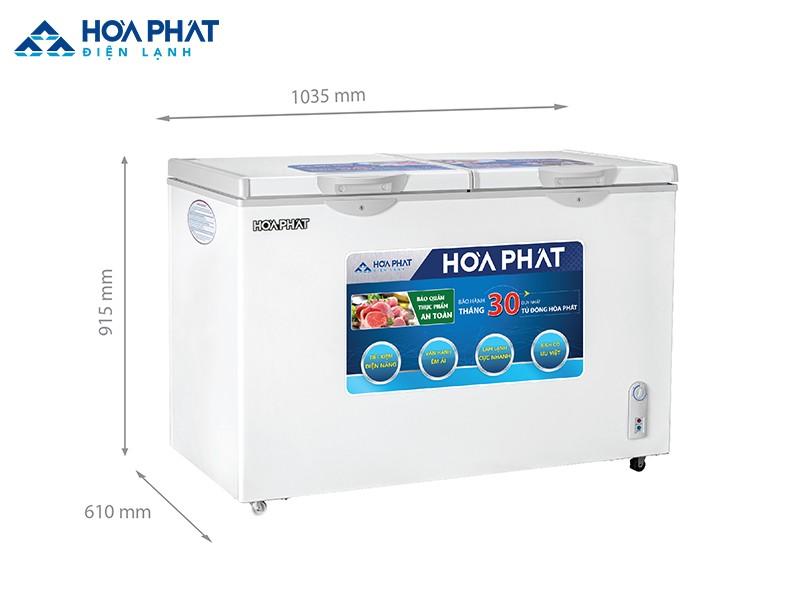 Tủ đông HCFI 506S2Đ2 205 lít, có cả ngăn đông và ngăn mát, 2 cánh mở nên rất phù hợp để thay thế cho tủ lạnh ở các gia đình đông người
