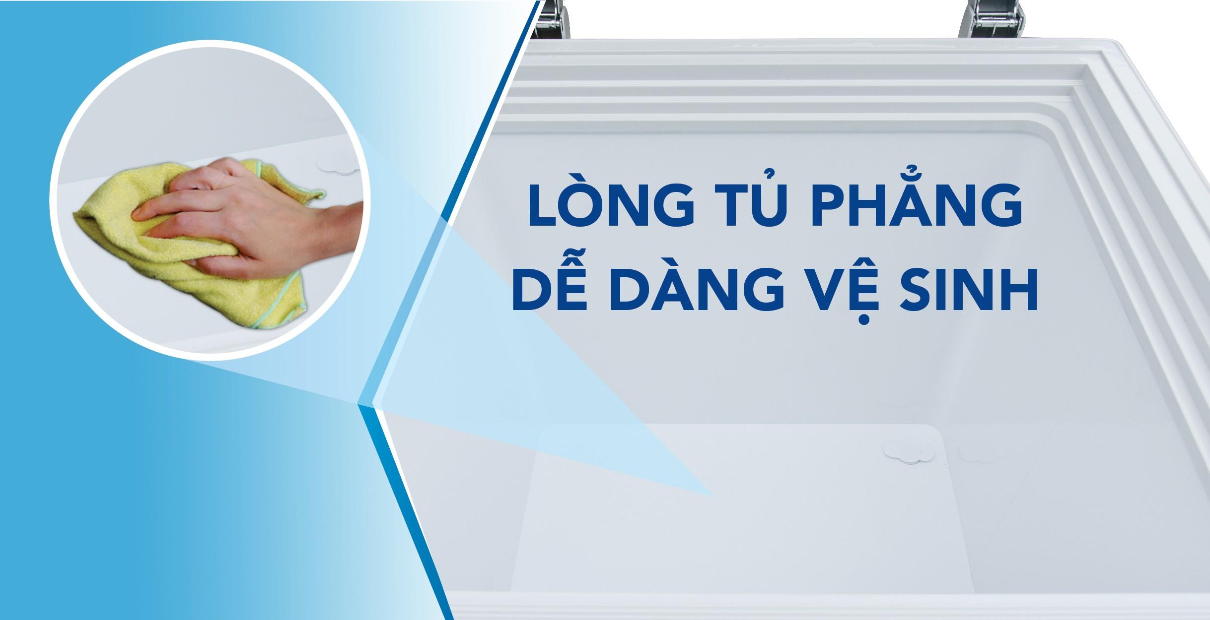 Nên vệ sinh tủ đông 500l thường xuyên để tăng khả năng làm lạnh và độ bền