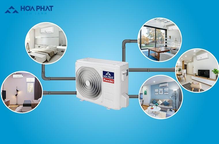 Hệ thống điều hòa Multi kết hợp 1 dàn nóng với nhiều dàn lạnh