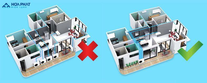 Điều hòa multi giúp tiết kiệm không gian cho nhà chung cư