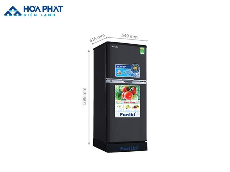 Tủ lạnh Funiki FRI-166ISU kích thước khá nhỏ gọn không chiếm nhiều diện tích không gian nhà bếp của gia đình