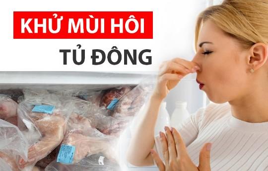Khử mùi hôi tủ đông để thực phẩm được bảo quản tốt hơn, không ảnh hưởng đến sức khỏe người dùng