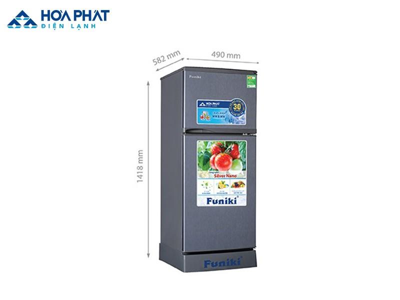 Tủ lạnh Hòa Phát Funiki FR-152CI dung tích 147 lít phù hợp cho gia đình có từ 2 đến 3 thành viên sử dụng