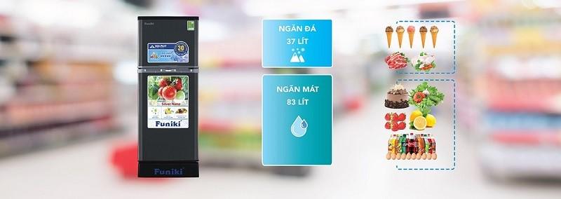 Tủ lạnh 120l phù hợp cho không gian bếp