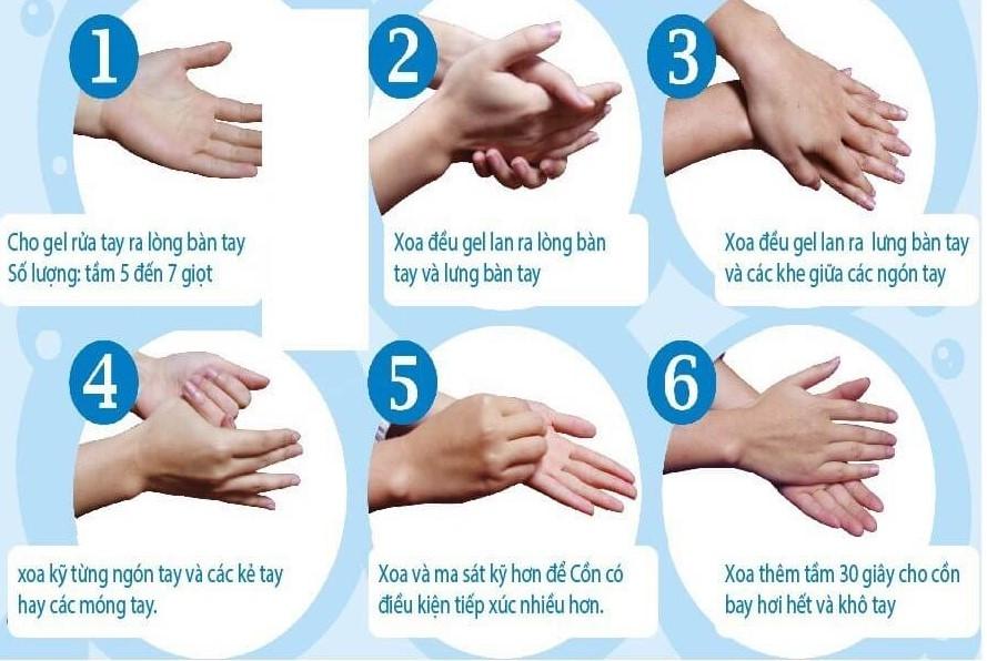 06 bước rửa tay thường quyđúng cách theo hướng dẫn của Bộ Y Tế