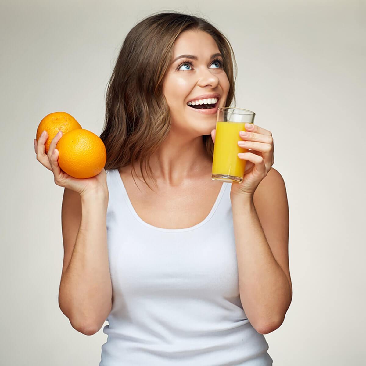 Phòng chống cảm lạnh khi dùng nước cam