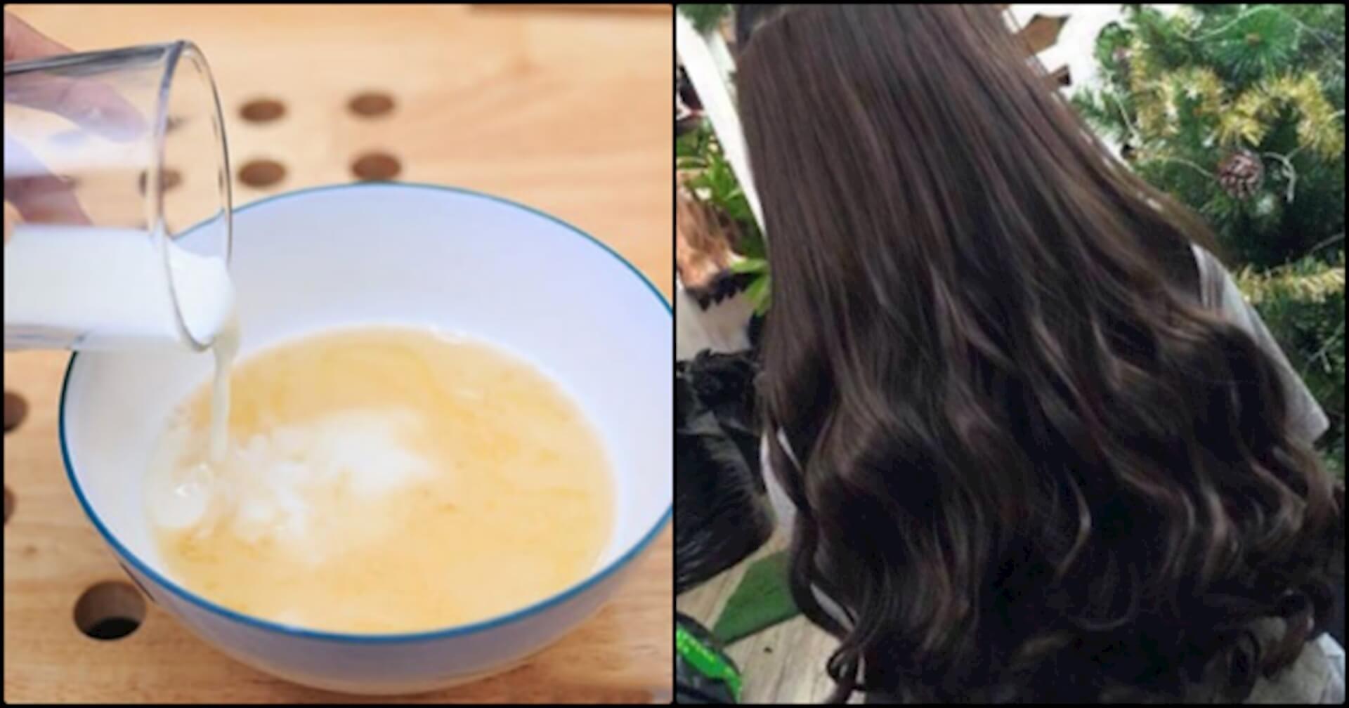 Cách làm tóc mượt tại nhà với sữa gạo và mật ong